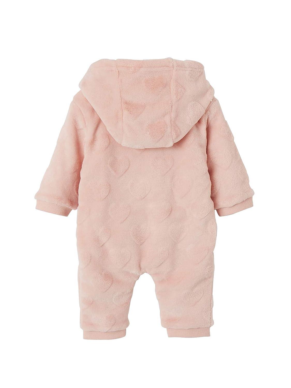 Vertbaudet Kuscheliger Onesie mit Kapuze f/ür Babys rosa 74