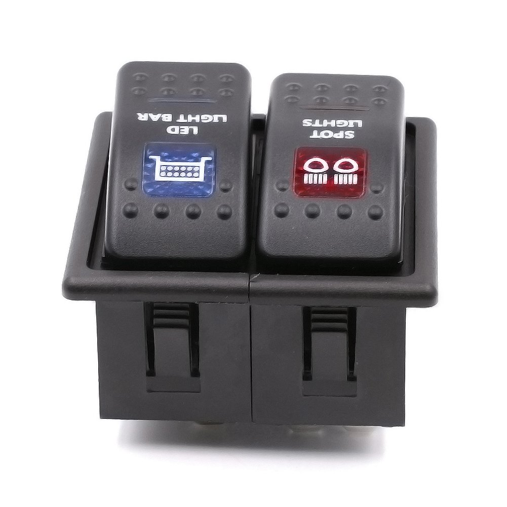 LAY'S 2 Gang Rocker Switch Housing Kit Switch Holder Panel Waterproof Boat Shape for Marine Boat Auto LAYs