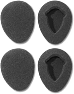 Two Pairs of 80mm Foam Earpads fits Infrared Wireless Headphones in GM Ford Toyota fits Nissan Honda Automobile Entertainment DVD Player Systems