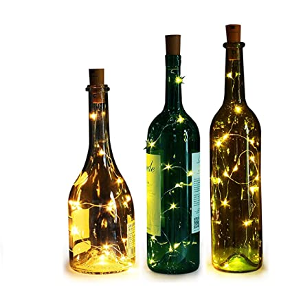 Wine Bottle Lighting For Bottle Lights Genround Diy Wine Lights battery Powered Mini Copper Wire Led Amazoncom