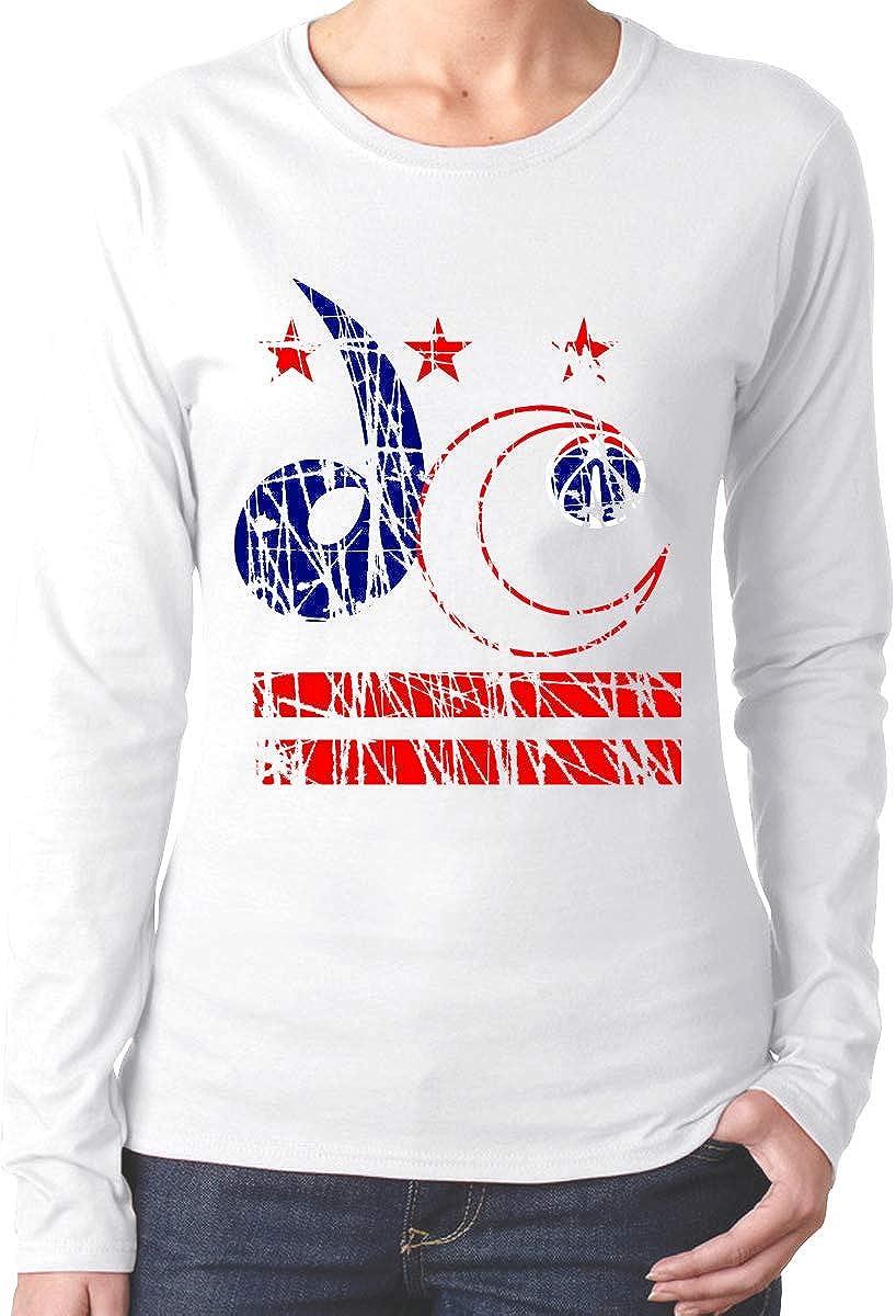 Teen Girls Printed Long Sleeves Black MiiyarHome Womens Long Sleeve T-Shirts Washington States Flag Tee