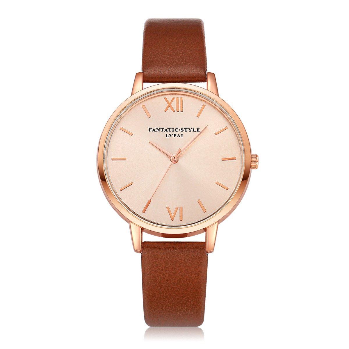 Watch for Women, Watches Women Quartz Wristwatch Clock Ladies Dress Gift Watches,Sports Fan Jewelry & Watches,Brown,Women Watches