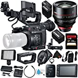 Canon EOS C200 EF Cinema Camera #2215C002 (International Model) + Canon CN-E 135mm T2.2 L F Cinema Prime Lens (EF Mount) + Canon BP-A60 Battery + Canon GPS Receiver GP-E2 + 256GB SDXC Card Bundle