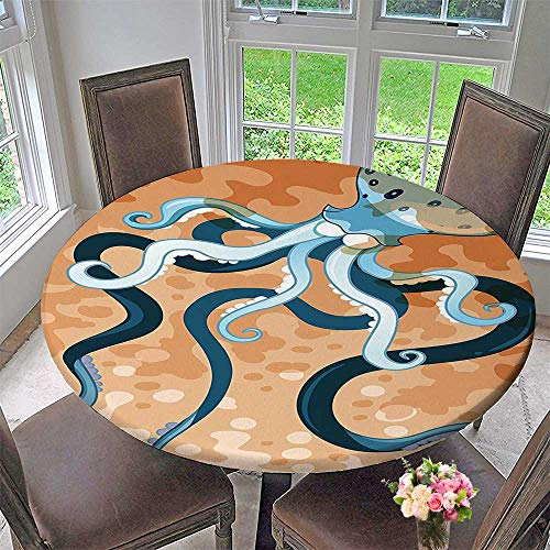 Mikihome Modern Table Cloth Giant with Legs ic s Beast Wild Life Print Orange Blue Indoor or Outdoor Parties 63
