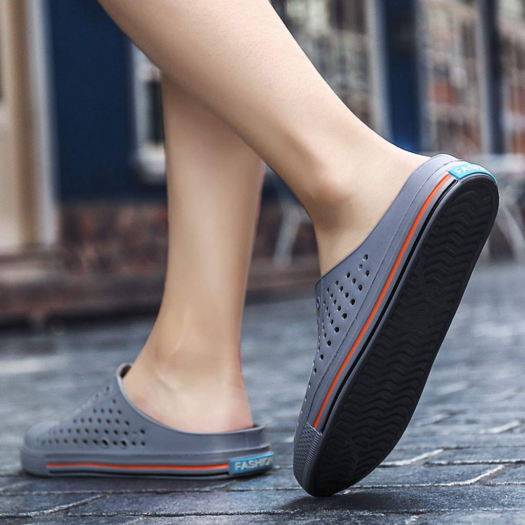 AOJIAN Shoes Womens Sandals Summer Casual Breathable Antiskid Beach Flip Flop Slide Slipper Clog Mule Gray by AOJIAN Shoes (Image #5)