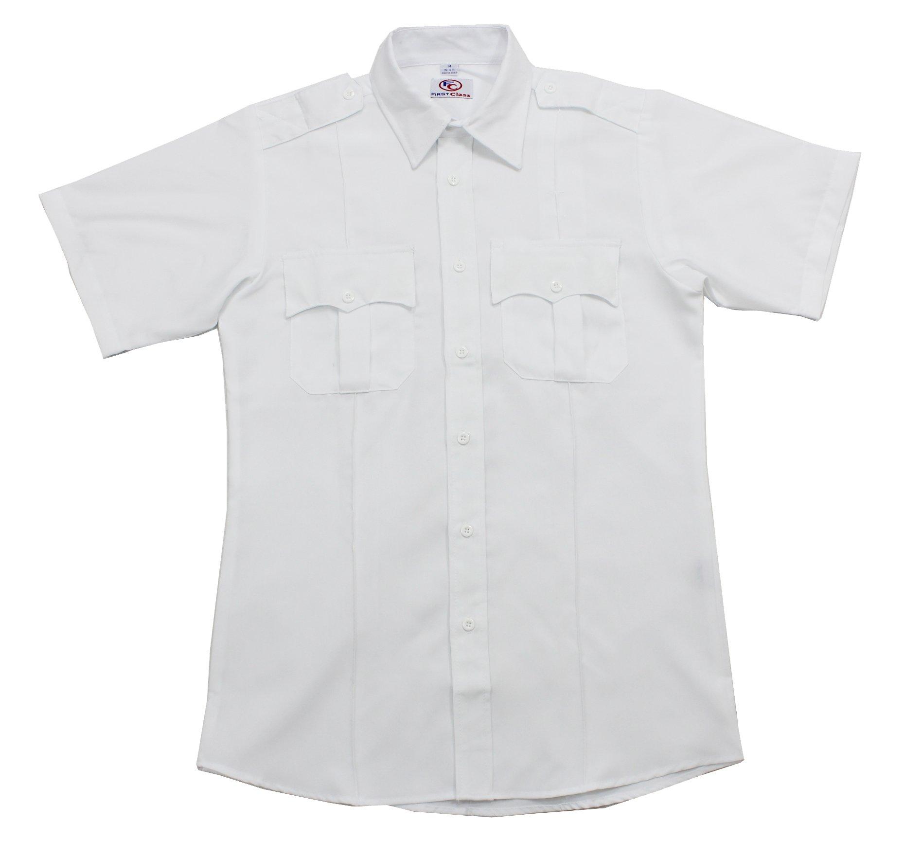 First Class Short Sleeve Uniform Shirt S White