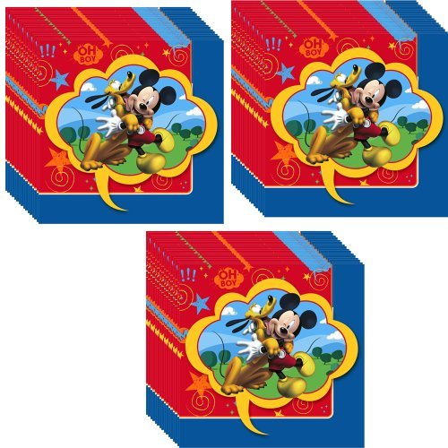 Disney Mickey Mouse Clubhouse Party Beverage Napkins - 48 (Disney Napkins)
