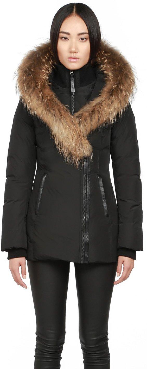 Mackage Ladies Down coat with asiatic raccoon fur ADALI-F5-Black