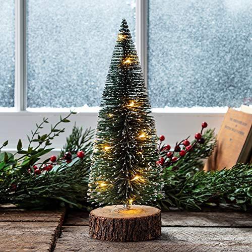 "Lights4fun, Inc. 12"" Pre Lit Battery Operated LED Mini Christmas Tree Decoration"