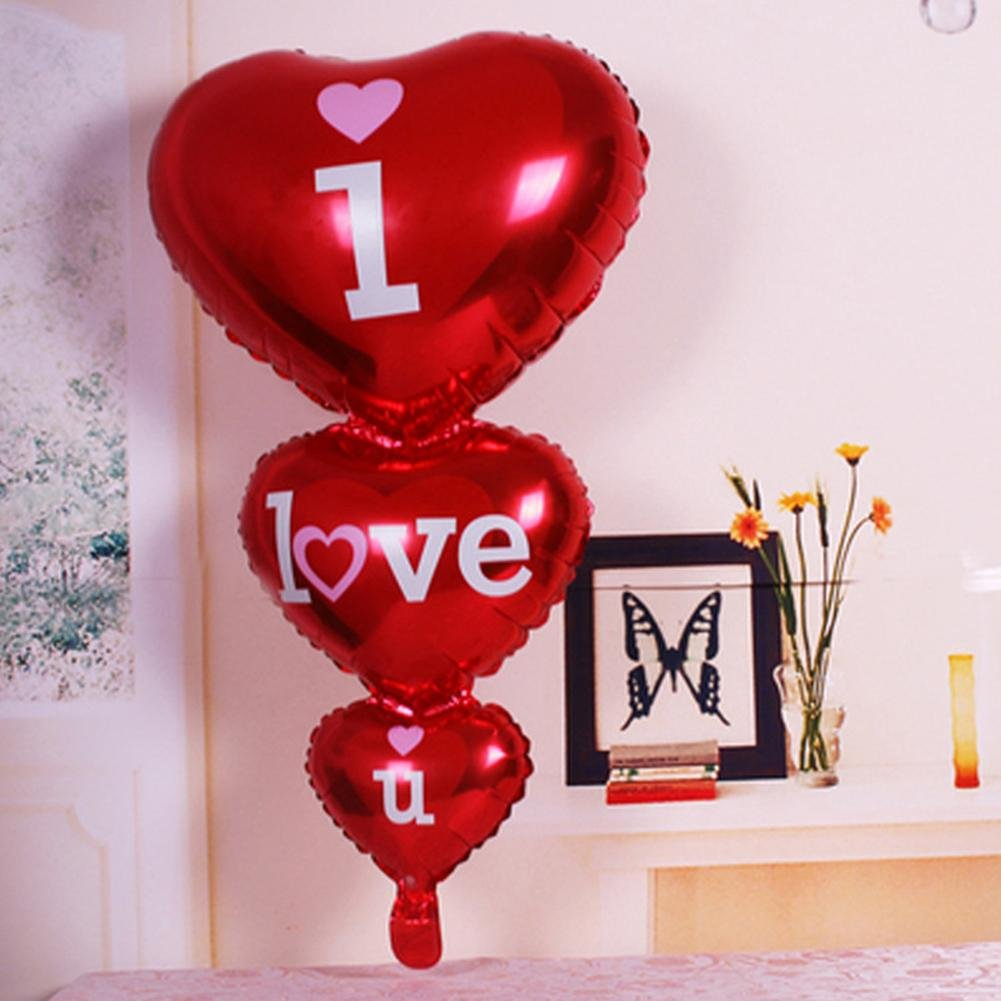 Teabelle Love you concentrici aluminum foil Balloons wedding Marriage Room Decor default