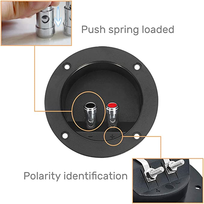 """10X Square Screw-in Speaker Terminal Cup 2/"""" w//Spring Post for Car// Home Audio"""