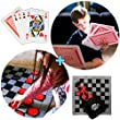Large Jumbo Playing Cards, Indoor Jumbo Checkers Rug Game and Tic Tac Toe all in 1 Combo Party Pack - Fun Indoor and Outdoor Yard Games for Kids