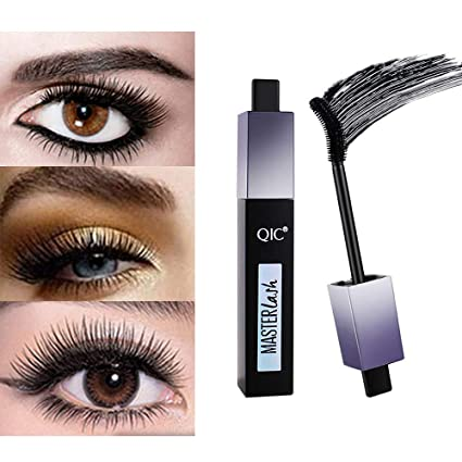 Maquillaje de ojo natural impermeable, máscara de pestañas extra larga de fibra 4D, alargamiento