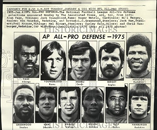 Vintage Photos 1976 Press Photo The National Football League All-Pro Defense of 1975