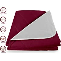 Cloth Fusion Waterproof Quilted Bed Protector Baby Dry Sheet for New Born Babies Large Size- (140 x 100 cm/Maroon)