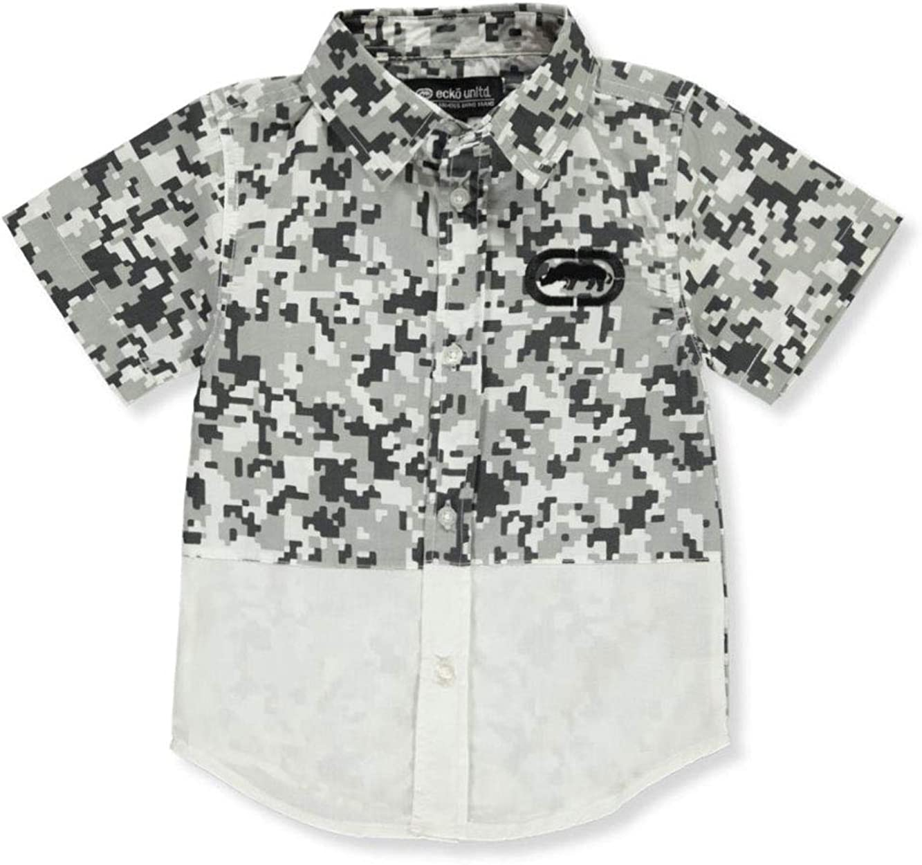 Boys Digi Camo S//S Button-Down Shirt Ecko Unltd