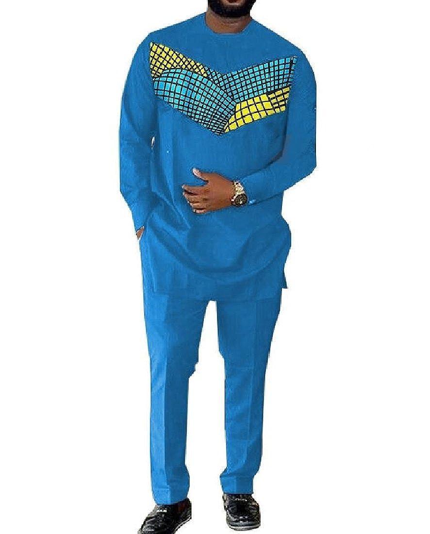 Aooword-men clothes Camisa dashiki ocio áfrica pantalones largos ...