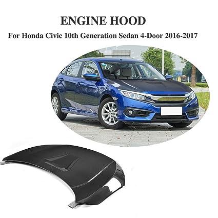 Amazon.com: Jcsportline Carbon Fiber Front Engine Bonnet Cover fits Honda Civic 10th Sedan 2016-2017: Automotive