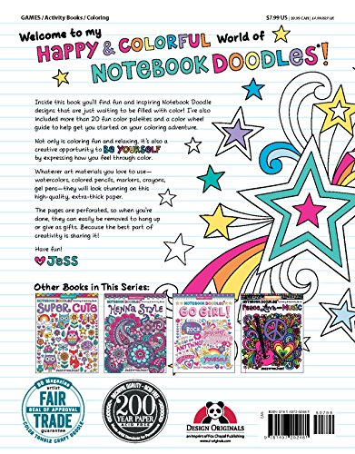 Large Product Image of Notebook Doodles Superstar: Coloring & Activity Book (Design Originals) 32 Inspiring Designs; Beginner-Friendly Relaxing & Empowering Art Activities for Tweens, on Extra-Thick Perforated Pages