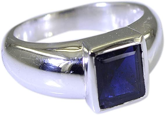 Natural Gemstone Promise Rings For Men Sterling Silver Handcrafted Size 4 To 12