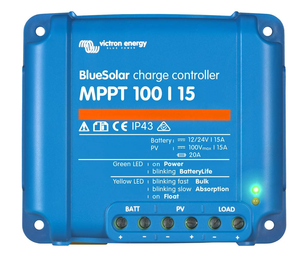 Victron BlueSolar MPPT 100/15 Charge Controller - 15 Amps / 100 Volts