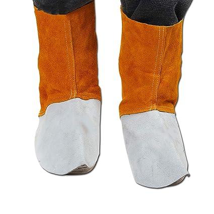 L Cuero Soldadura Seguridad Protección Zapato Cubierta Soldador Protección De Calor Anti-Splash Especial Protección
