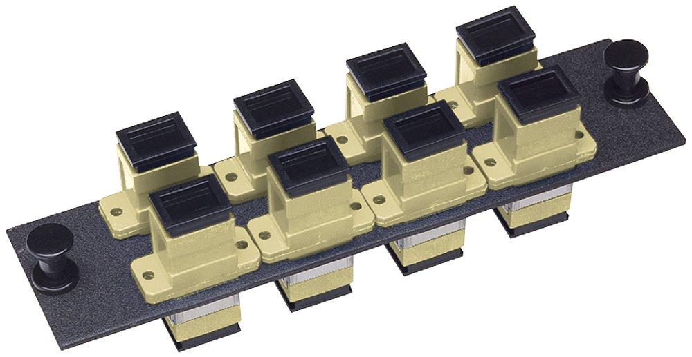 Allen Tel Products GBSC-8MM Multimode Phosphorus Bronze Sleeve, Fiber Optic Loaded Mounting Panel SC Adapter, 8-Pack