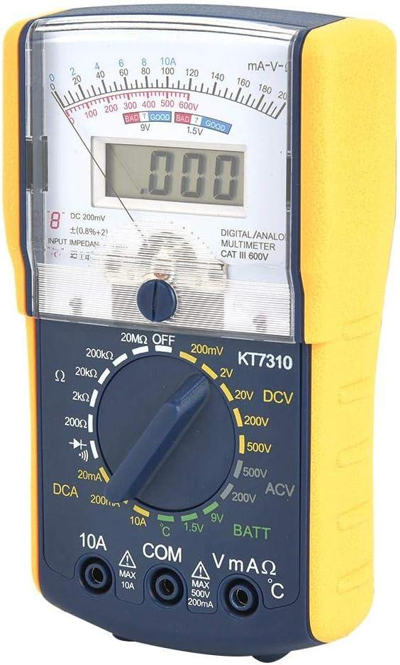nobrands Misuratore Multifunzione Portatile multimetro analogico Digitale a Doppio Display ad Alta sensibilit/à