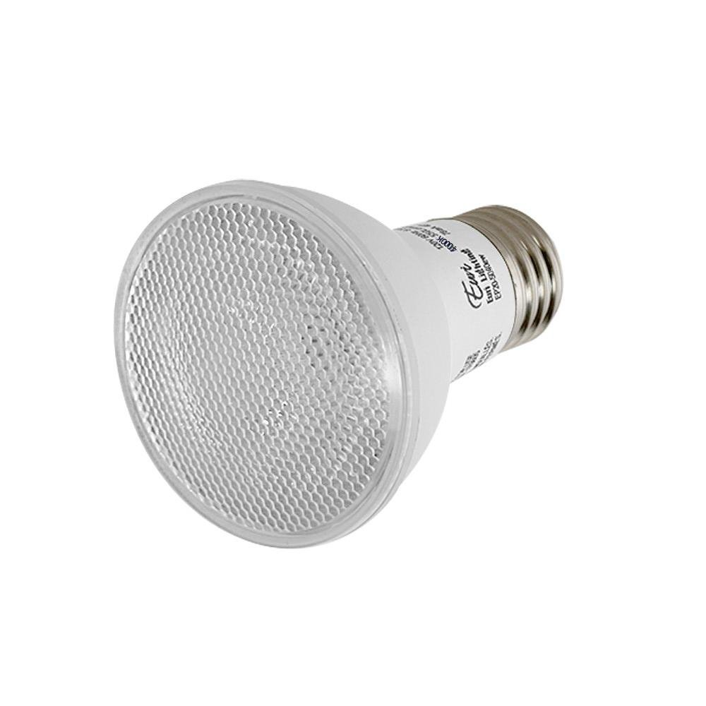7W Euri Lighting EP20-1050ew LED PAR20 Bulb E26 Medium Base Everyday Line Cool White 5000K 550 lm UL /& Energy Star Listed 50W Equivalent 40 Degree Beam Angle Dimmable