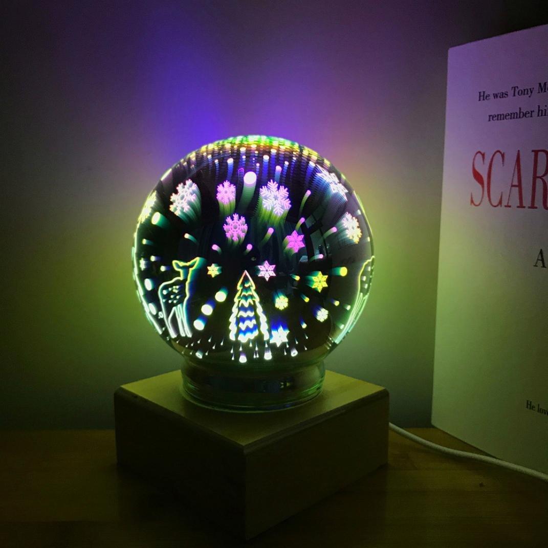 Magic Ball LED, conmutación Hali 3d usb lámpara de mesa Luz ...