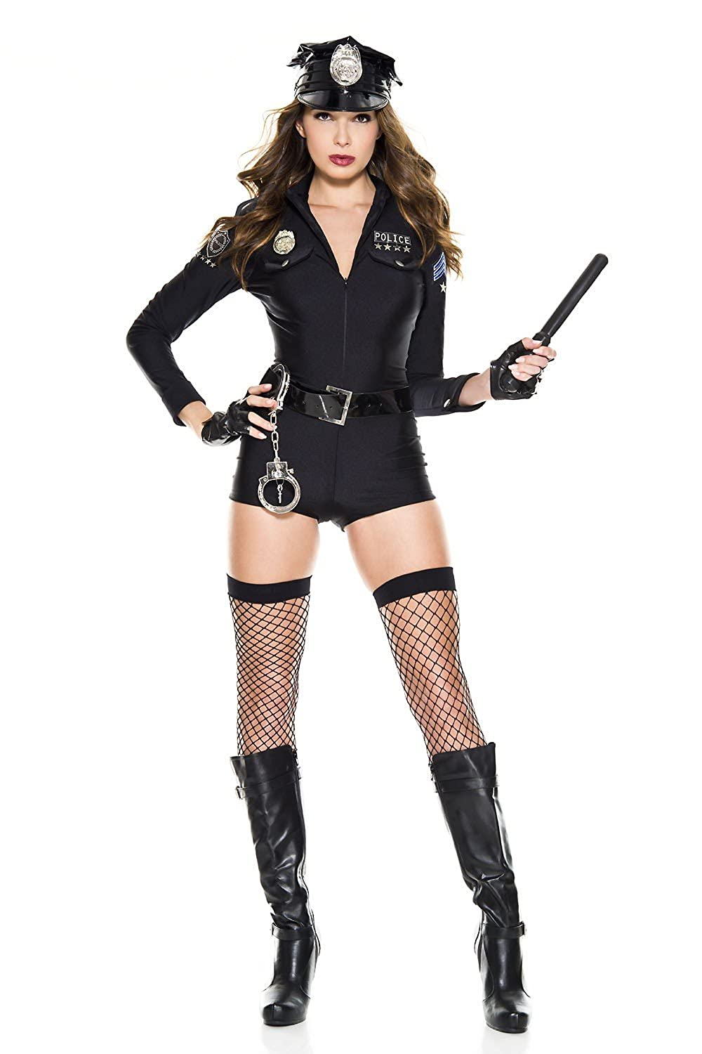 41e7a8352bd 6 PC. Ladies Sexy Cop Romper Costume Set