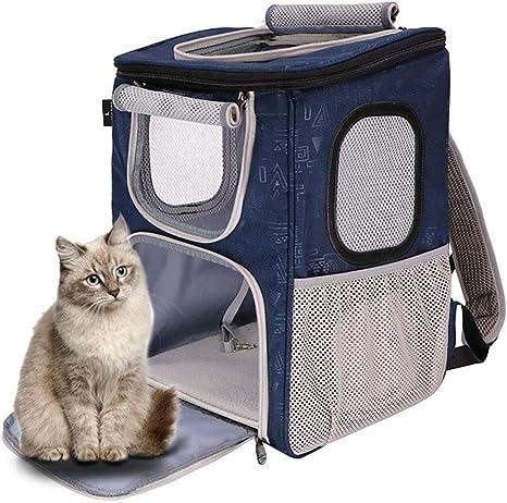 Shhjjpy Mochila Porta Mascotas para Perros Medianos Pequeños Gatos, Bolsa Aprobada por Aerolínea con Ventanas De Malla para Viajes, Senderismo, Al Aire Libre hasta 20LBS: Amazon.es: Deportes y aire libre