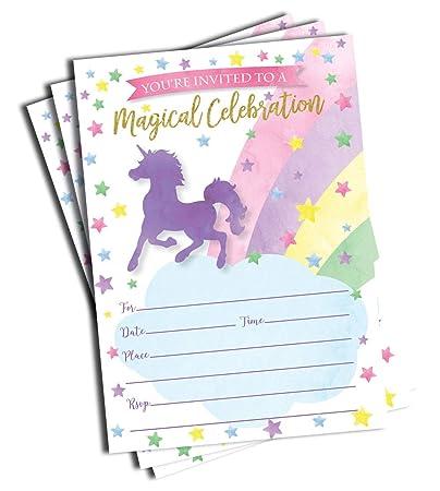 Amazon 50 Unicorn Invitations And Envelopes Large Size 5x7