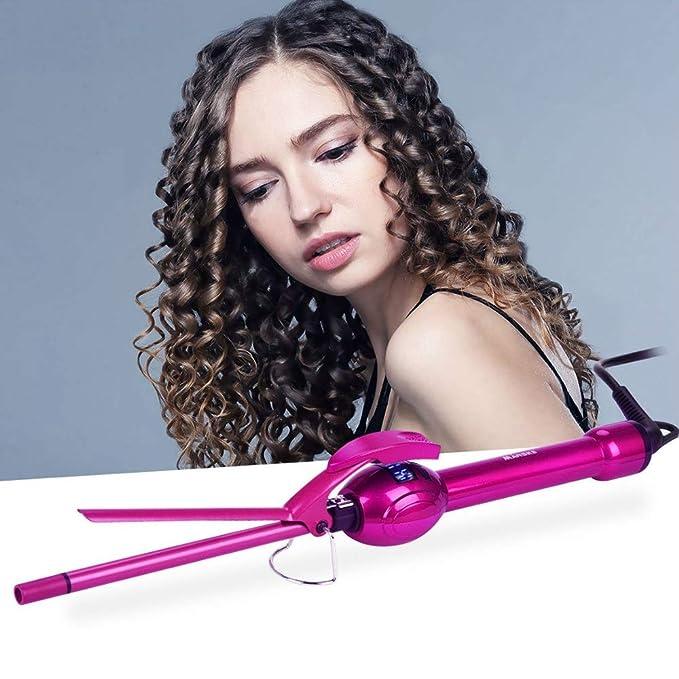 Rizador de cabello, pinzas para rizar, rizador de pelo afro, vara ...