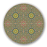 Uneekee Moroccan Star Lazy Susan: Small, pure birch wooden Turntable Kitchen Storage