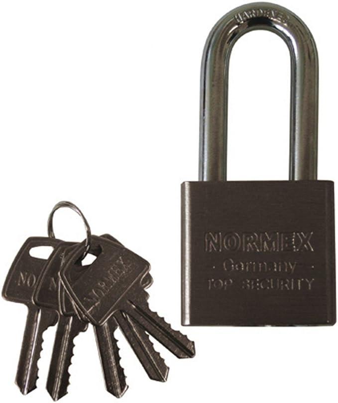 Vorhängeschloss Stahl Normex 50mm Sicherheitsschloss Bügelschloss 5 Schlüssel Baumarkt