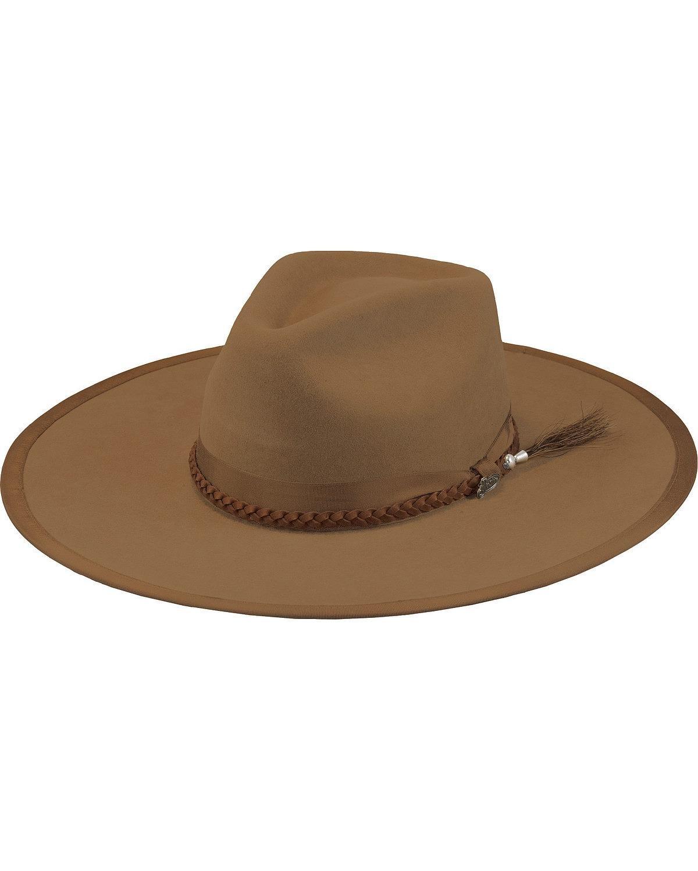 Justin Men's Pecan 7X Fur Felt Magnificent Hat Pecan 7 1/8