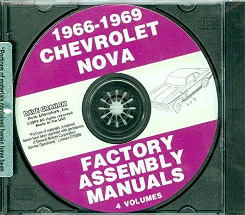 1967 6 Cylinder (STEP-BY-STEP 1966 1967 1968 1969 CHEVY II & NOVA ASSEMBLY INSTRUCTION MANUAL CD - INCLUDES 4 cylinder or 6 cylinder engine, including Base Models to Fully-Loaded models, Nova, Super Sport SS)