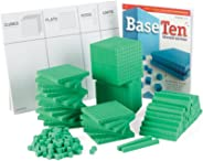hand2mind Green, Foam, Base Ten Blocks for Place Value Math (Set of 322)