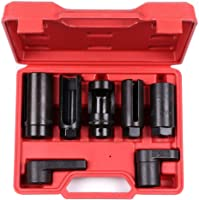 SCITOO 7pcs O2 Oxygen Sensor Oil Pressure Sending Unit Master Sensor Socket Tool Kit with Long Oxygen Sensor Wrench...