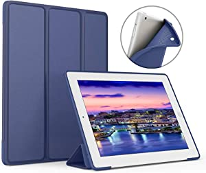 Aoub (Old Model) ipad 2/3/4 case Slim Lightweight Tri-Fold Silicone Stand Cover with Auto Sleep/Wake Function,for Old iPad 2th/3th/4th Generation case (Navy)
