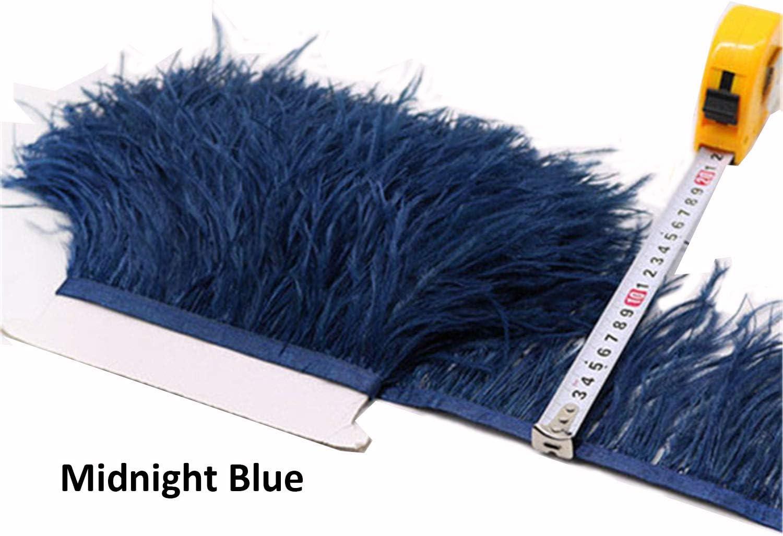 36 colores de plumas de avestruz con ribete de plumas de avestruz esponjosas para hacer vestidos de Millinery Paquete de 1 metro