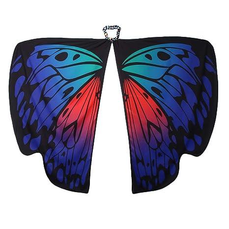 F Fityle Chal ala de Mariposa Butterfly Wings Shawl Bufandas Toallas de Playa Navidad Halloween Fiesta