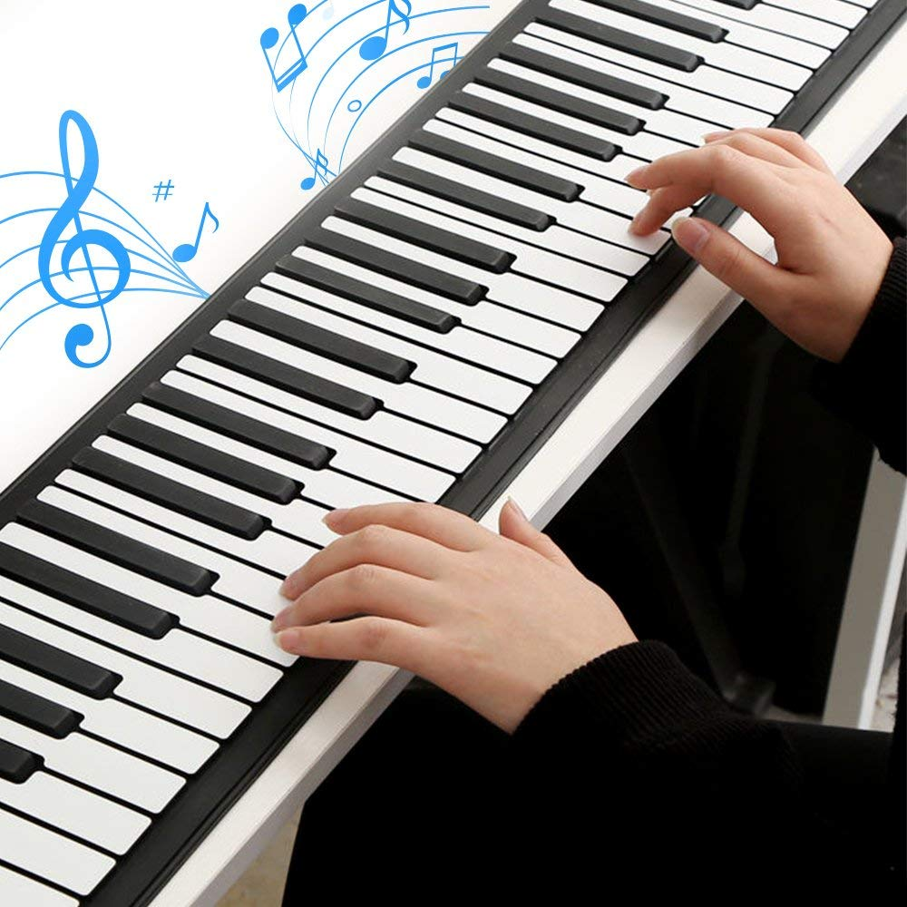 Roll Up Piano Folding Portable Keyboard   61Keys   Music Gifts for Women Men Girl Boys Kids   Educational Toys Gift Set   Digital Beginner Piano by Igloo Essentials (Image #8)