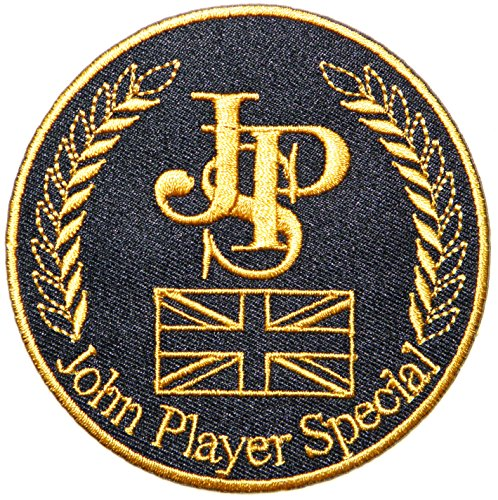 JPS John Player Special Lotus Team Sport Racing Car Logo T-shirt Jacket Patch Size 3