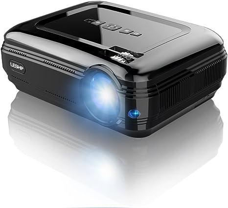 LESHP Proyector 3200 lúmenes LCD Mini Proyector portátil LED ...