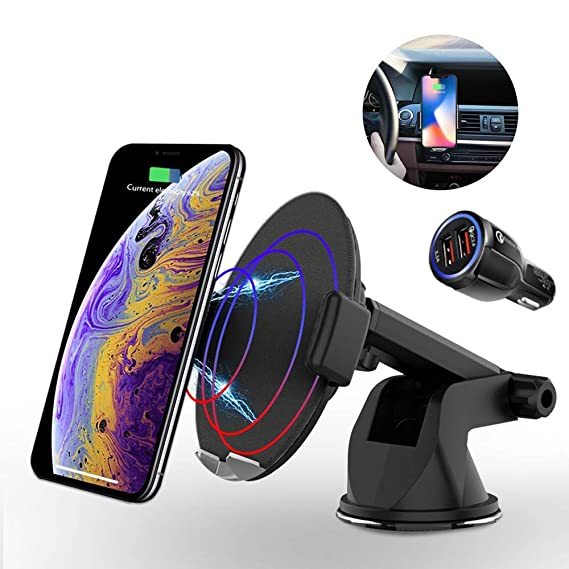 Amazon Com Wireless Charger Car Mount Automatic Induction