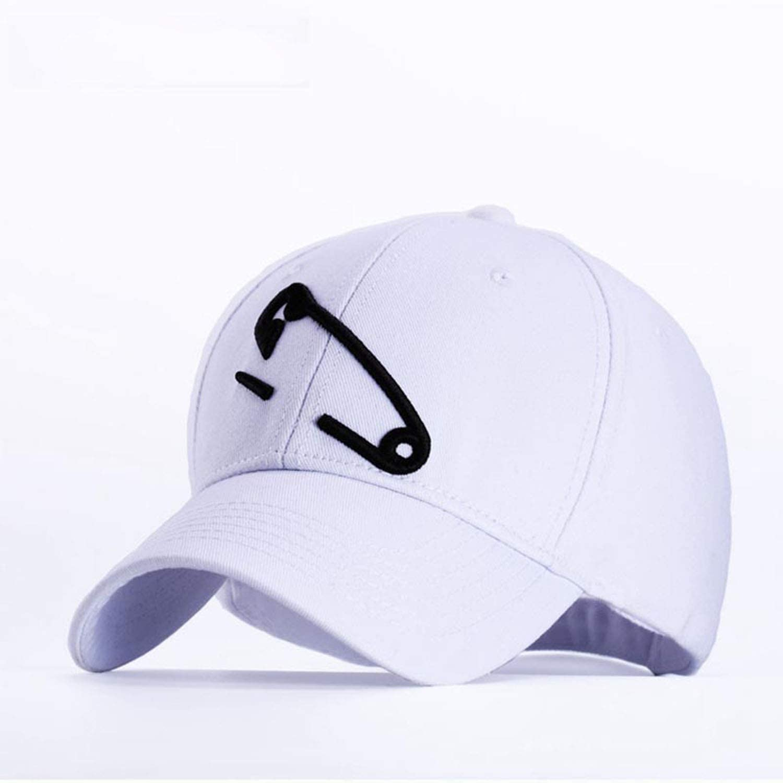 Solid Baseball Hat Korean Creative Pin Embroidery Cotton Baseball Cap