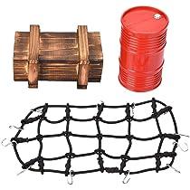Dilwe RC Coche Tambor de Aceite Caja de Red de Equipaje, Red de ...