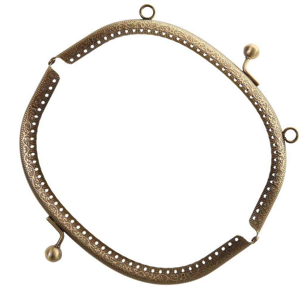 P Prettyia 16.5 20cm Borsa Bacio Serratura Chiusura Metallo di Alta qualit/à Arco Bronzo Retro Telaio Tono per la Borsa Fatta a Mano Fai da Te
